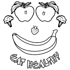 healthy plate coloring page healthy foods coloring pages funycoloring