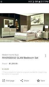 rivers edge bedroom furniture rivers edge bedroom set glam bedroom set rivers edge glam 6 piece