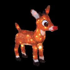 rudolph 18 in pre lit with blinking red nose 10521 the home depot