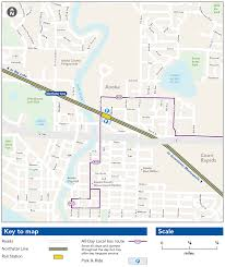 Link Light Rail Map Anoka Station Metro Transit