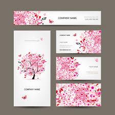floral tree business card design vector brushes u0026 vectors