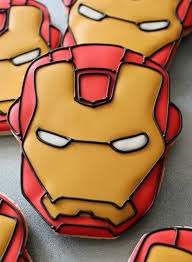 iron man cookie close up man cookies iron man cakes and cake