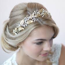 gold headbands gorgeous botanical leaf gold bridal headband with