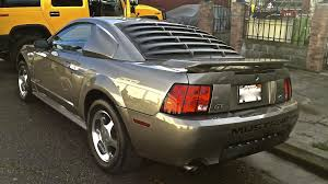 mustang rear louvers speedform mustang rear window louvers textured abs 75001 94 04