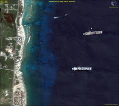Cancun Mexico Map by Quickbird Satellite Image Of Cancun Mexico Satellite Imaging Corp