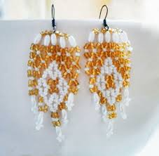 free pattern for earrings sunny day click on link to get pattern