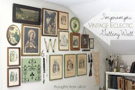 how to do a gallery wall vintage eclectic gallery wall