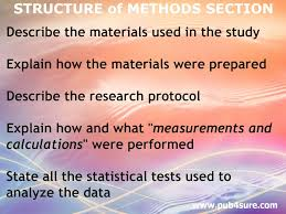 how to write a great paper how to write the methods section of a research article pub4sure methods materials section
