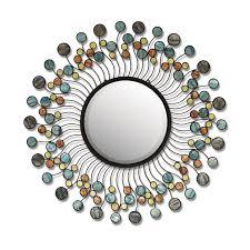 blue capiz mirror