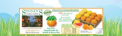 fruit delivery citrus fruits fruit delivery estero fl stoney s citrus farms