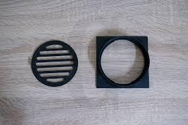 matte black square matte black floor waste premium electroplated homegear