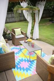 Painting An Outdoor Rug For The Front Porch Painting A Rug On Concrete Except I U0027d Choose