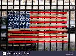 Flags Made In Usa United States Of America Flag Made Out Of Wooden Boards At A