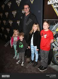 monster truck show los angeles angeles jan 16 dean mcdermott hattie mcdermott finn mcdermott