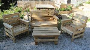 Wood Patio Furniture Plans Pallet Outdoor Furniture Plans Recycled Things