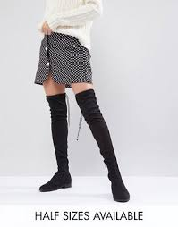 s knee boots uk s boots ankle knee high the knee asos