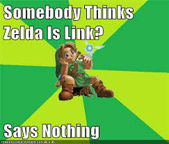 Link Meme - zelda isn t link meme by therealfry1 on deviantart