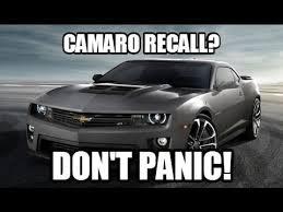 2012 camaro recall don t panic it s just a camaro recall