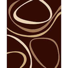 shop balta modern chocolate ripple rectangular indoor woven area