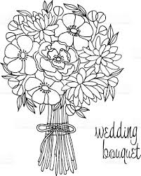 wedding flowers drawing wedding bouquet with flower stock vector more images of