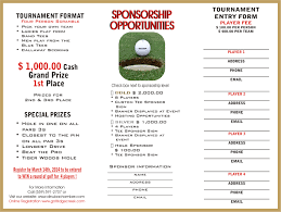 Sponsorship Letter For Sports Event Golf Tournament