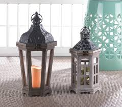 hex top wood candle lantern shop discounted home u0026 gardening