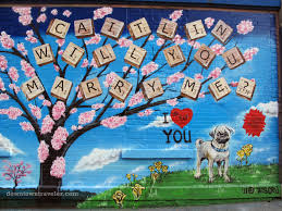 thanksgiving proposal ideas update bride says yes to street art marriage proposal