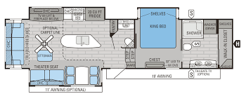 Thor Fifth Wheel Floor Plans by 2016 Luxury Fifth Wheel Floorplans U0026 Prices Jayco Inc