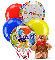 teddy balloons congratulations balloons 5 mylar balloons a