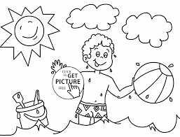summer color pages happy time in summer sea coloring page for kids seasons coloring