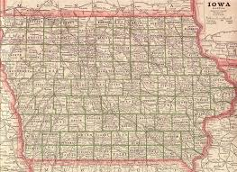 Iowa State Map With Cities by The Usgenweb Archives Digital Map Library Iowa Maps Index