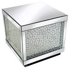 Crystal Coffee Table by Rhombus Crystal Mirrored Cube Coffee Table Pha Rhombus Mfr5102
