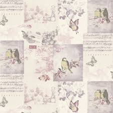 Shabby Chic Bird Cages by Shabby Chic Vintage Bird Cage Wallpaper Mauve Blue Pink Patchwork
