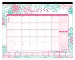Wall Calendar Organizer Bloom Daily Planners 2016 17 Academic Year Desk Calendar Cute