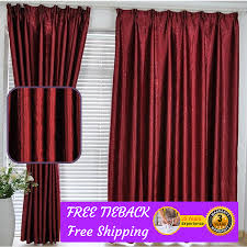 Sheer Maroon Curtains Blackout Maroon Gold Pink Fabric Bedroom Curtain Design Drape