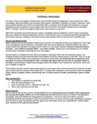 Resumes For Federal Jobs by Federal Resume Guide Federal Career And Job Search