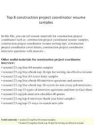 project coordinator resume project coordinator sle resume coordinator sle resume top 8