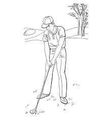 golfer sports coloring pages sport coloring pages of