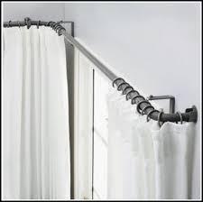 Curtain Rod Ikea Inspiration Inspiring Charming Corner Curtain Rod 9 Best 20