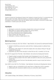 Social Work Resume Examples by Professional Community Development Worker Templates To Showcase