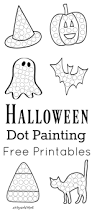 halloween dot painting free printables the resourceful mama