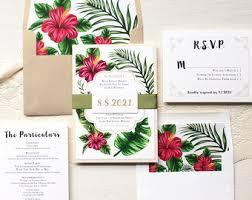 tropical wedding invitations tropical wedding invitation etsy