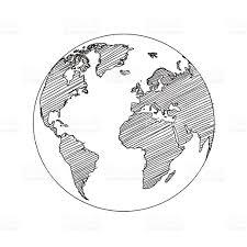 world map globe sketch vector stock vector art 505626040 istock