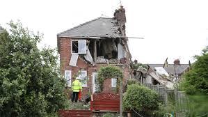 video house flattened by massive blast evening telegraph
