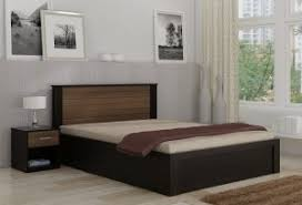 bed and side table set spacewood engineered wood bed side table finish color natural wenge