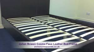 julian bowen cosmo faux leather bed frame youtube