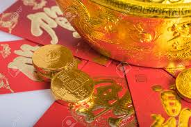 new year gold coins new year gold coins ang pow stock photo picture and