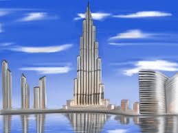 Burj Khalifa Burj Khalifa Time Lapse Digital Painting 6 Tsi Apparel Design