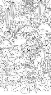 88 best mushrooms toadstools coloring pages for adults images on