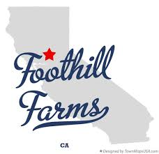foothill cus map map of foothill farms ca california